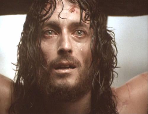 Jésus pleurant sur la Croix