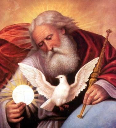 Père Eternel, Jésus Eucharistie et Colombe de l'Esprit