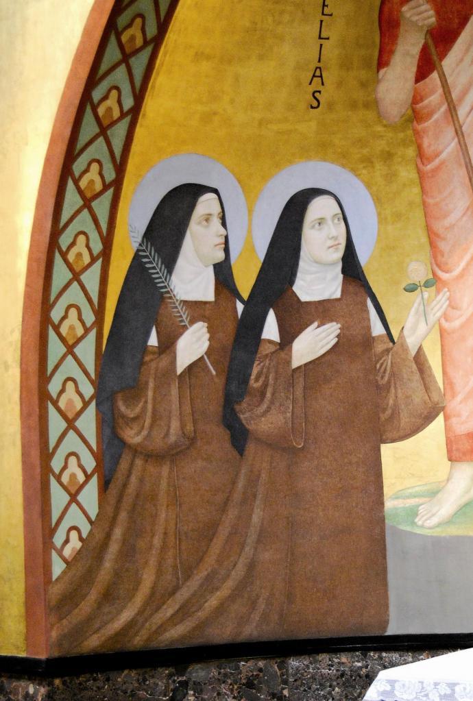 Thérèse Lisieux et Compiègne, peinture Carmel Vienne (Autriche)