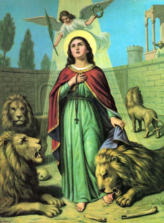 Sainte-Thècle, vierge et martyre