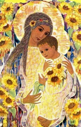 Madonne, Enfant-Jésus et tournesols